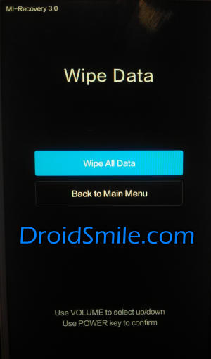wipe all data Redmi Note 3 Pro