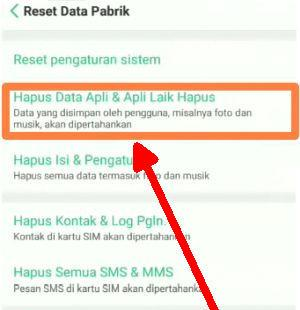 hapus data aplikasi Oppo Find X