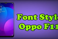 Font Style Oppo F11 Pro