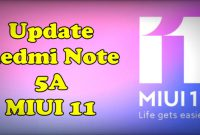 Cara Update Redmi Note 5A MIUI 11